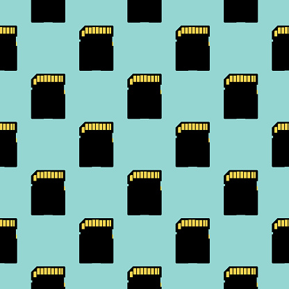 Memory Cards Seamless Pattern