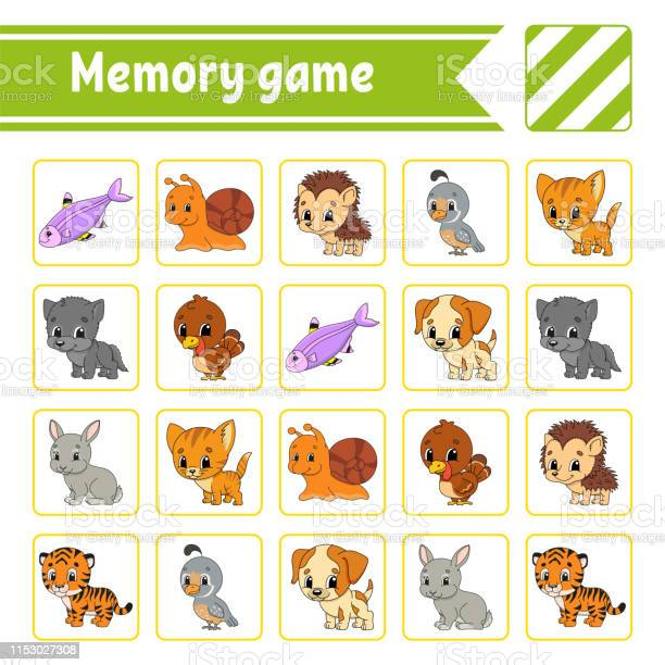 Memory game for kids education developing worksheet activity page vector id1153027308?b=1&k=6&m=1153027308&s=612x612&h=0zfm4amo2vuiri7rxd4 3jn55p utfowudyydb djr8=