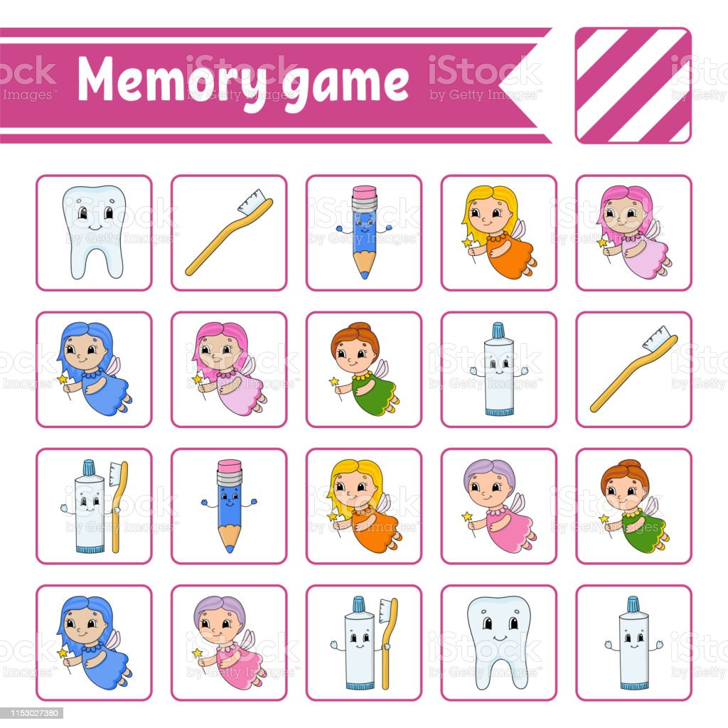 Memory game for kids. Education developing worksheet. Activity page...