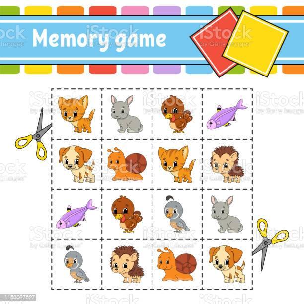 Memory game for kids education developing worksheet activity page vector id1153027527?b=1&k=6&m=1153027527&s=612x612&h=vzs0r2lpnmqa07eyuhrouyrxdn8ezyfshy clj5uwvi=