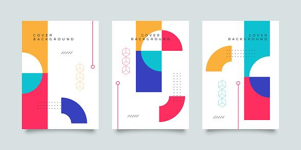 Memphis cover design template