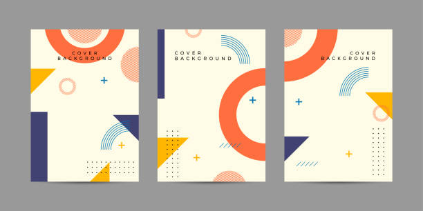 memphis cover style template - abstract art stock illustrations