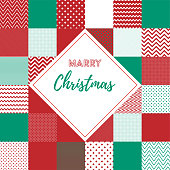 Memphis Style Marry Christmas Web and Social Media Banner