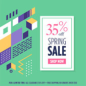 Stylish and professional retail sale web banner. Ready to promote on social media.