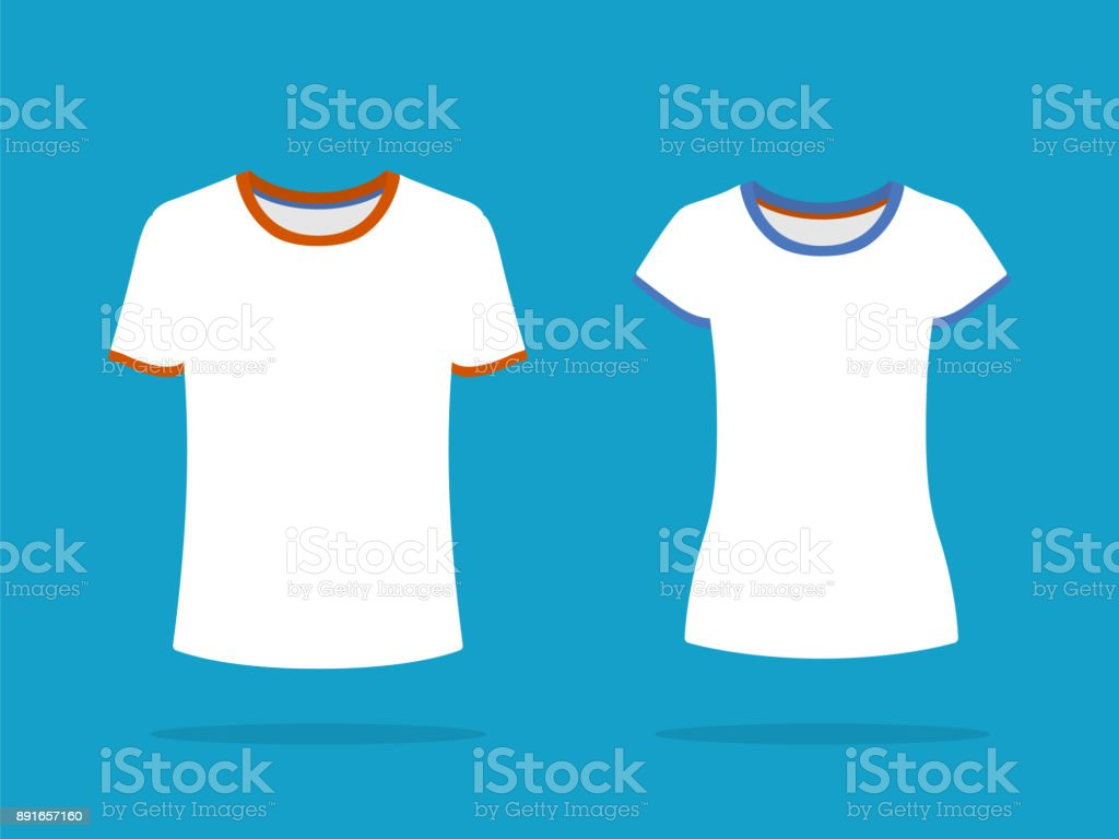 Hommes Et Femmes Courtes Manches Tshirt Templates Blanc Tshirts Jai