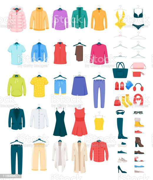 Men and women clothes on hangers vector illustrations set vector id1156898271?b=1&k=6&m=1156898271&s=612x612&h=kqlgzqrdjhukdi83w41eb2gbbi muhvx hzerbjgsru=