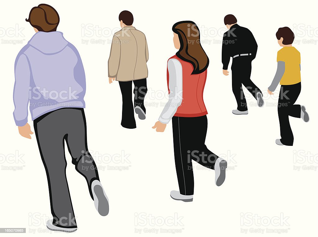 Men and Women Dancing vector art illustration