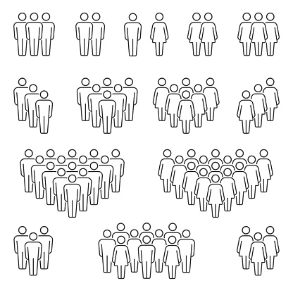 Men and Women icons group clipart