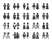 Men and Women Sign - Icons
