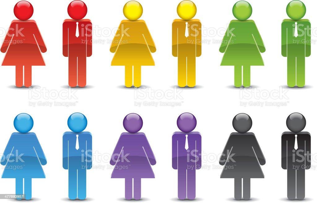 Men and women symbol vector art illustration