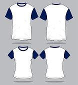 (White / Navy Blue)