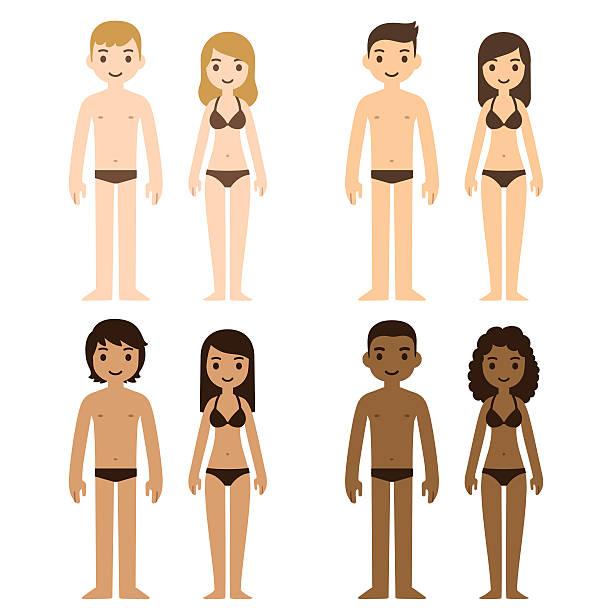 illustrations, cliparts, dessins animés et icônes de hommes et femmes - homme slip