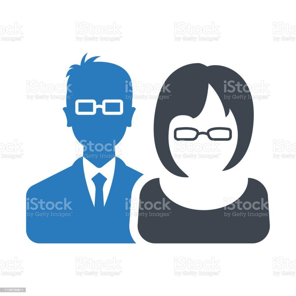 Vetores de Homens E Mulheres Com A Foto Do Perfil Negócio Avatar