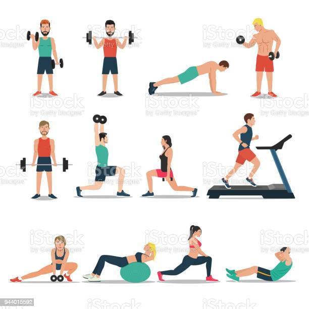 Men and women workout set isolated on white background cardio vector id944015592?b=1&k=6&m=944015592&s=612x612&h=dkifru oqzofoh5vchw 9fuqkkxwarpegdk40f6zf8y=