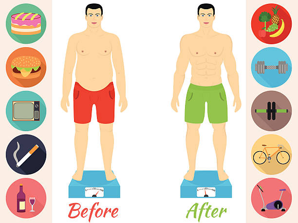 Royalty Free Weight Loss Before And After Clip Art, Vector ...