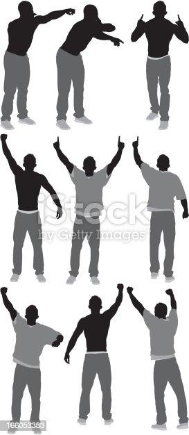 Men cheering