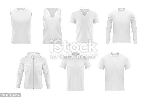 Camiseta vectorial de ropa para hombre, sudadera con capucha y polo