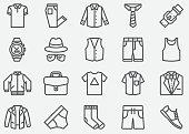 Men Fashion Accessories Line Icons
