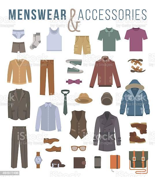 Men fashion clothes and accessories flat vector icons vector id494972496?b=1&k=6&m=494972496&s=612x612&h=7eb jqzetmvog8s502vtcf  oazfybmoh7gqlt 8bpi=