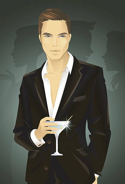 men in black - chihhang stock illustrations