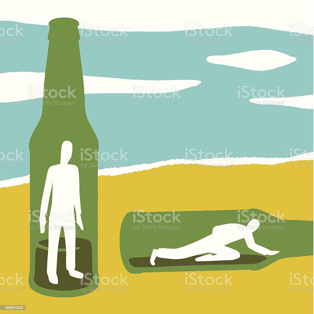Men In Bottles C vector art illustration