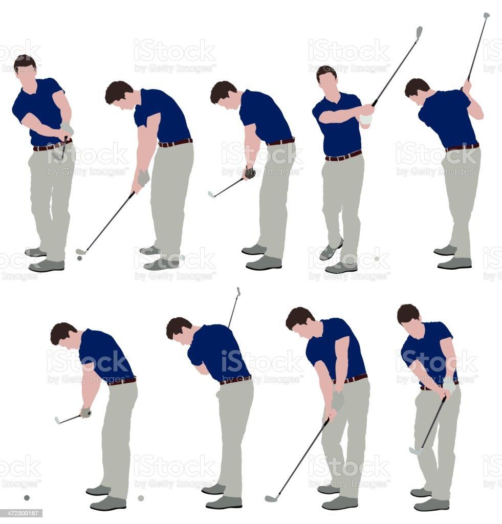 Men playing golf royalty-free stock vector art