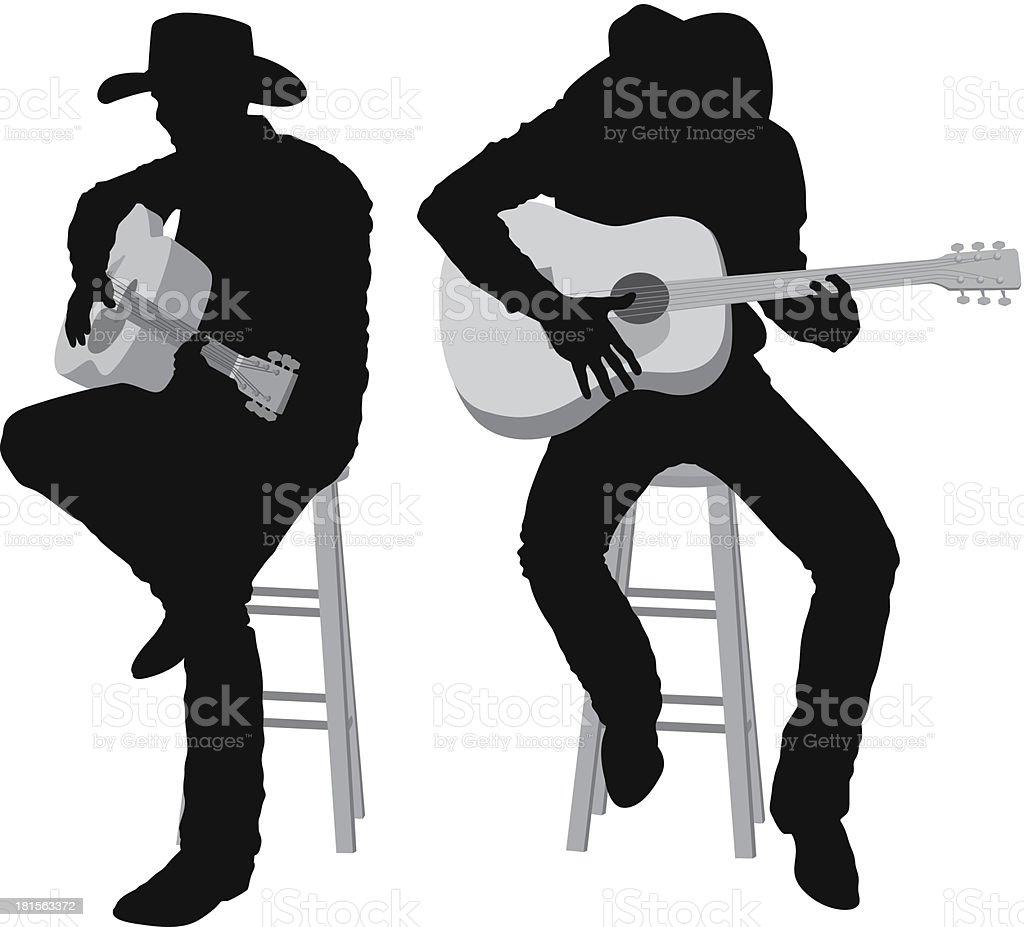 Men playing guitar royalty-free men playing guitar stock vector art & more images of acoustic guitar