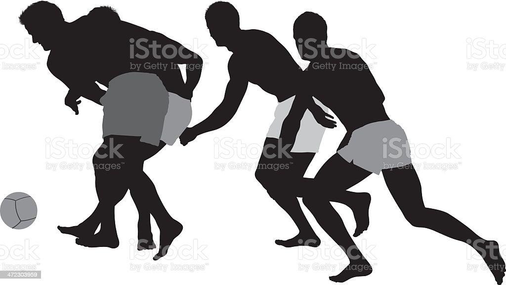 Men playing soccer royalty-free stock vector art