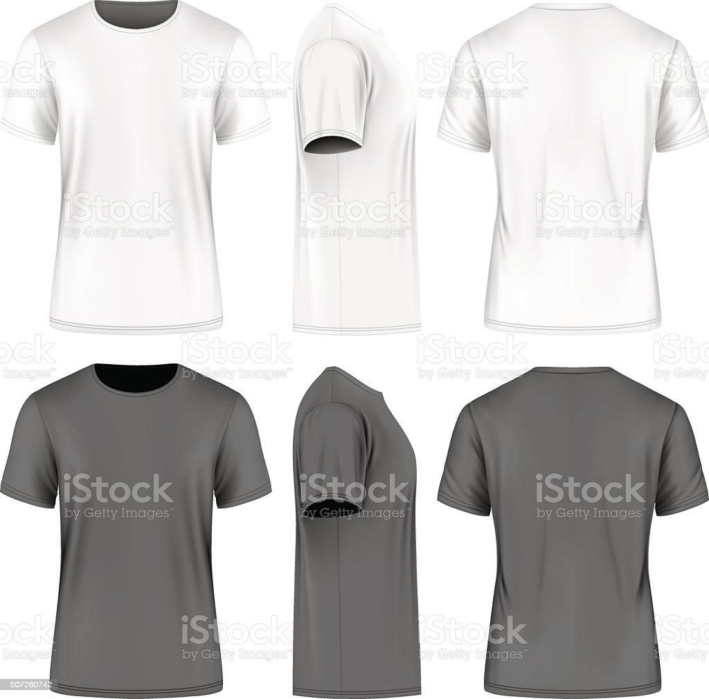 Men short sleeve t-shirt . royalty-free stock vector art