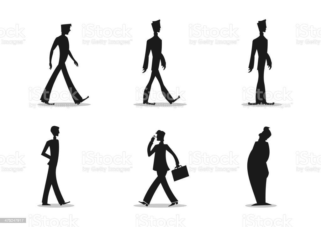 Men Silhouette royalty-free stock vector art