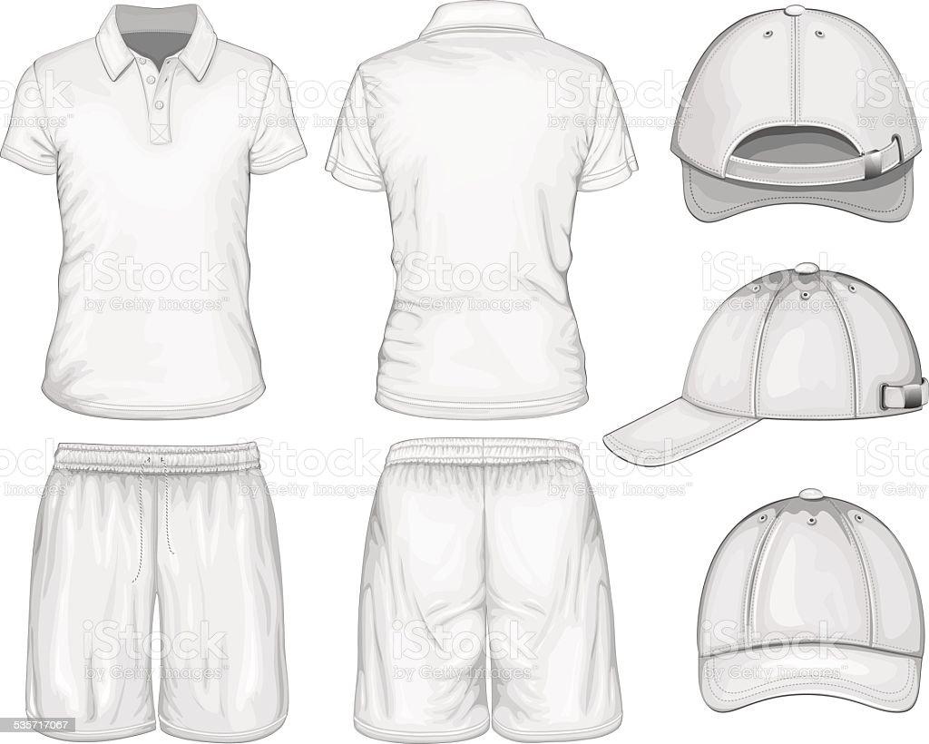 Men sport clothes vector art illustration