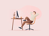istock Men stretch after work is done. 1337022726