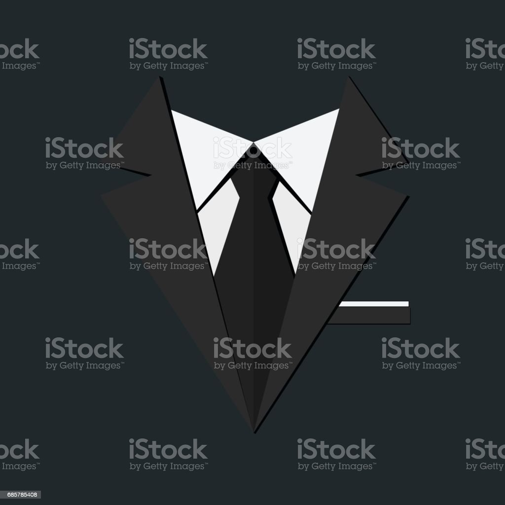 Men suit vector art illustration