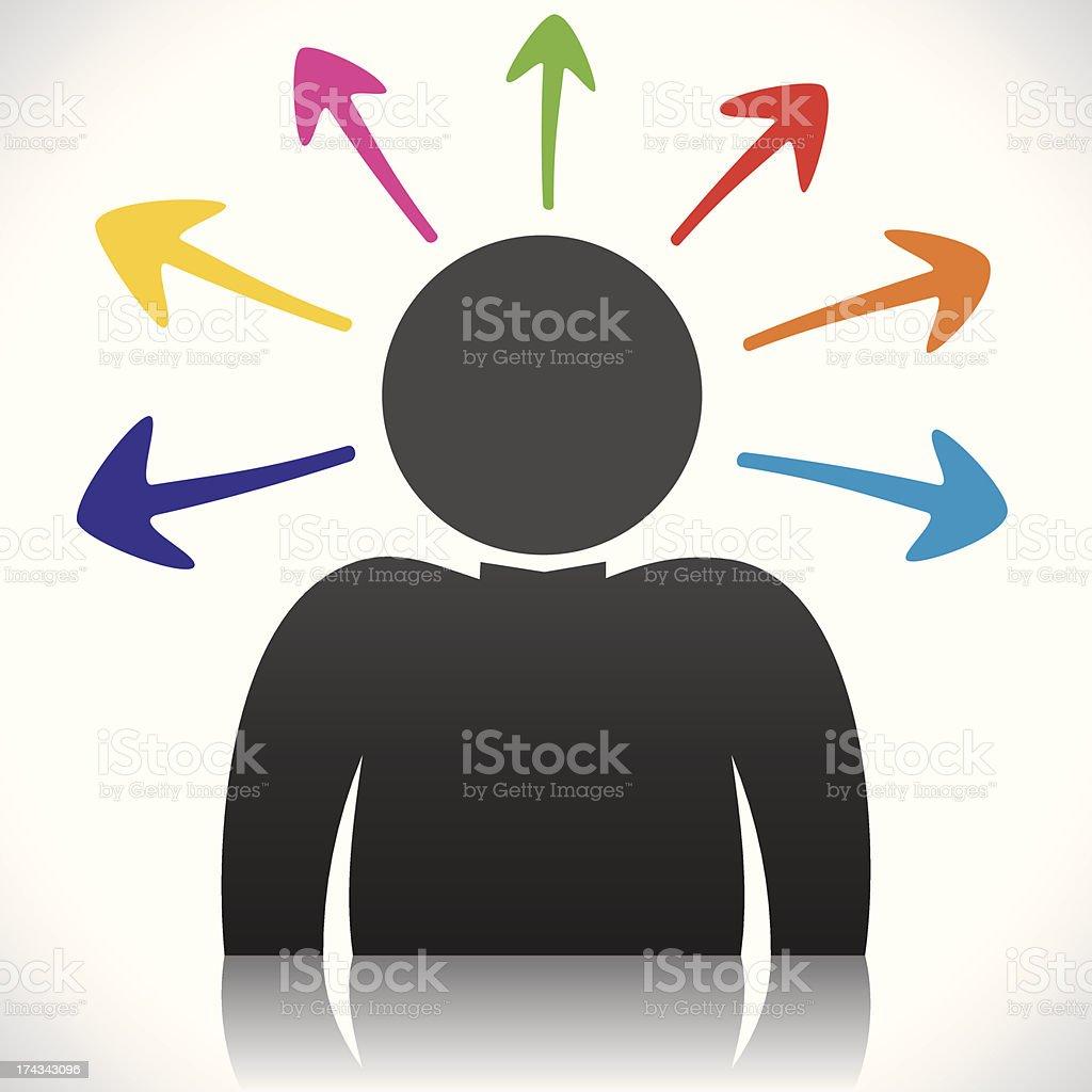 men thinking royalty-free stock vector art