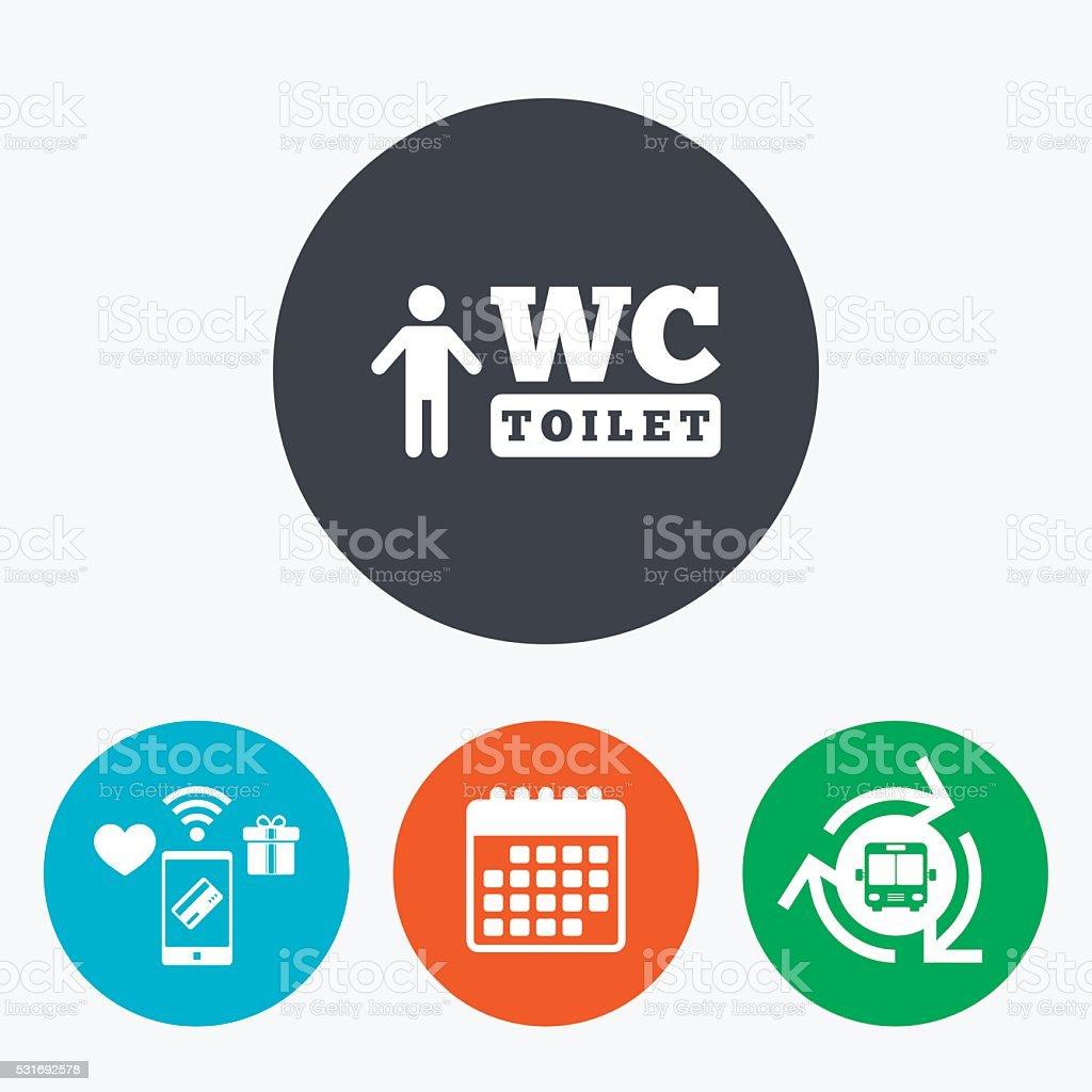 Toilette Wc Uomini Di Icona Toilette Simbolo Immagini Vettoriali