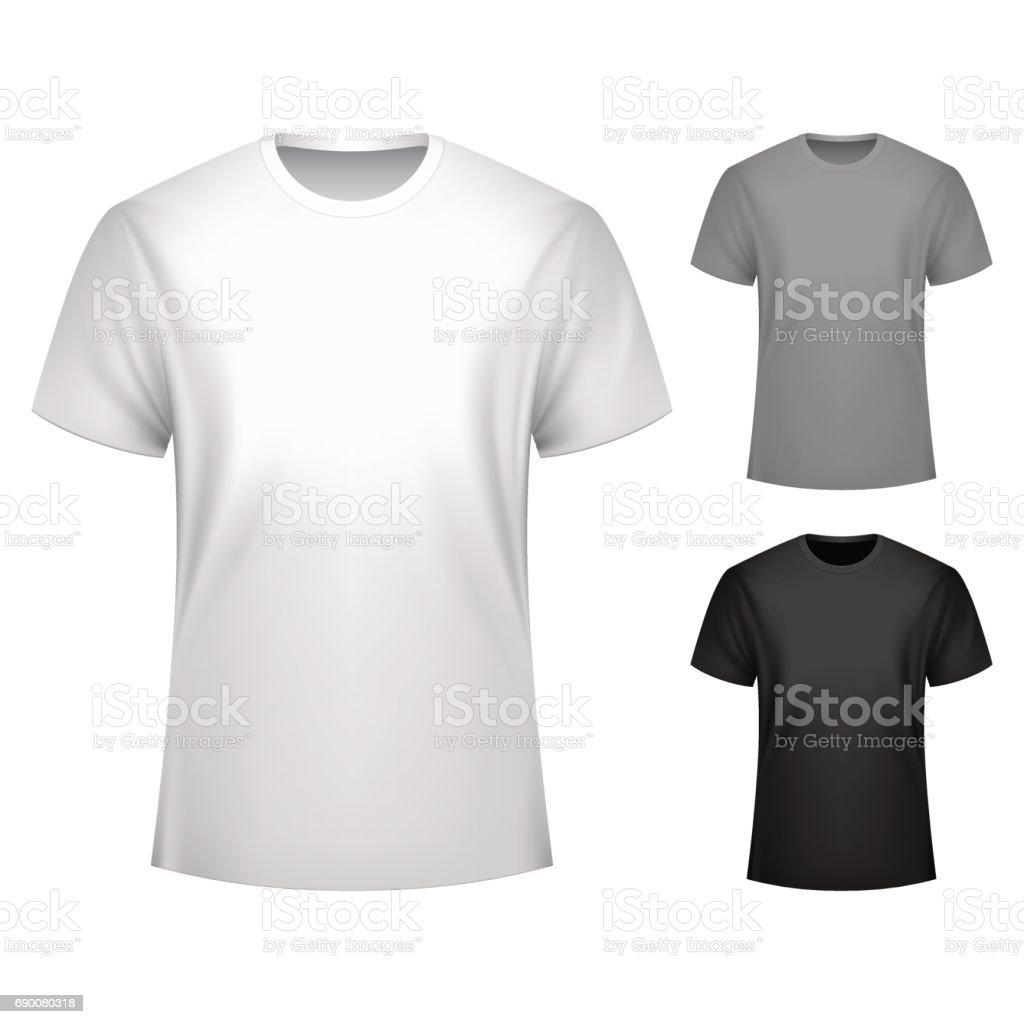 Männer Tshirt Vorlage Stock Vektor Art und mehr Bilder von ClipArt ...
