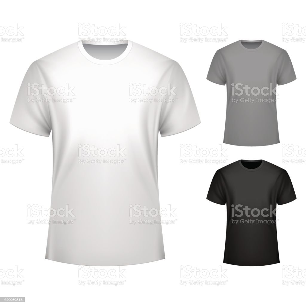 Men T-shirt Template vector art illustration