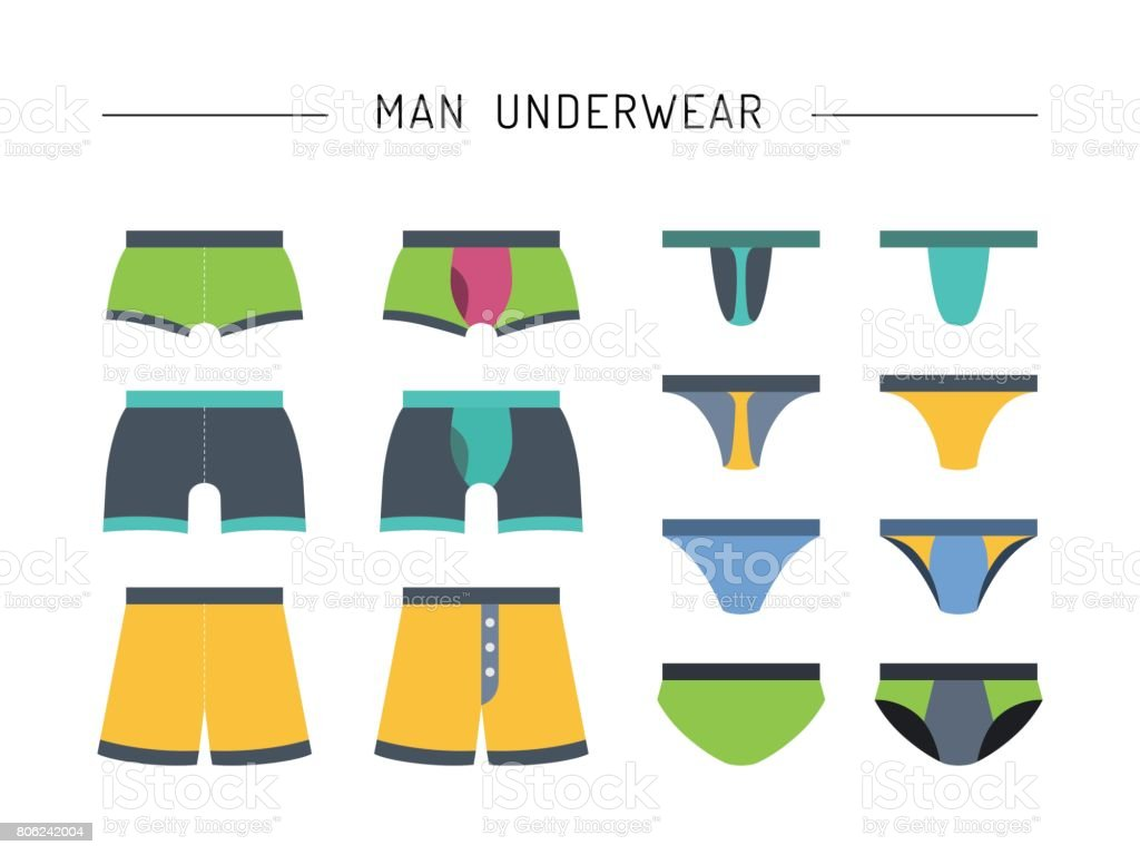 men underwear clothing vector art illustration