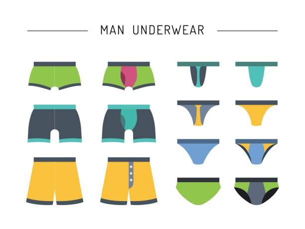 illustrations, cliparts, dessins animés et icônes de vêtements sous-vêtements pour hommes - homme slip