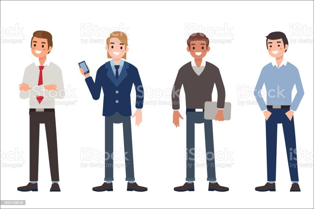 Homens - ilustração de arte em vetor