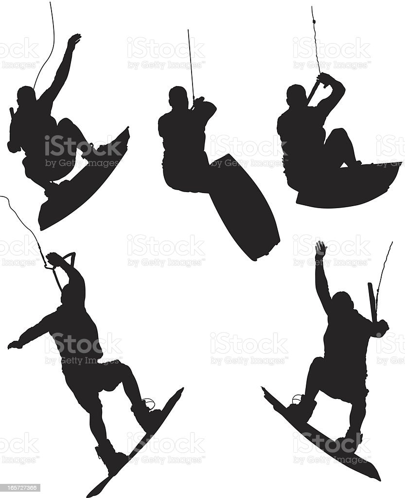 Men wakeboarding royalty-free men wakeboarding stock vector art & more images of activity