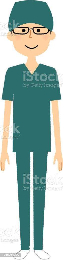 Men Wearing Surgical Gowns Stock Vector Art & More Images of Adult ...