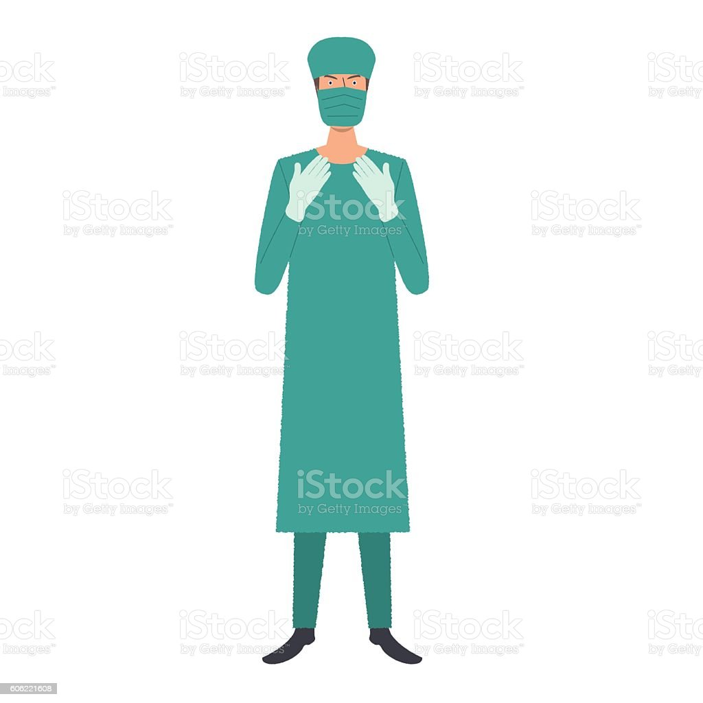 royalty free surgical gown clip art vector images illustrations rh istockphoto com surgery clipart surgery clipart free
