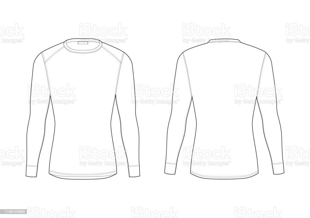 5447e894 Men winter thermal underwear. Blank templates of long sleeve t-shirt.  royalty-