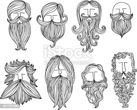 istock Men with different style of mustache 451291685