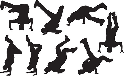 Men with handstand