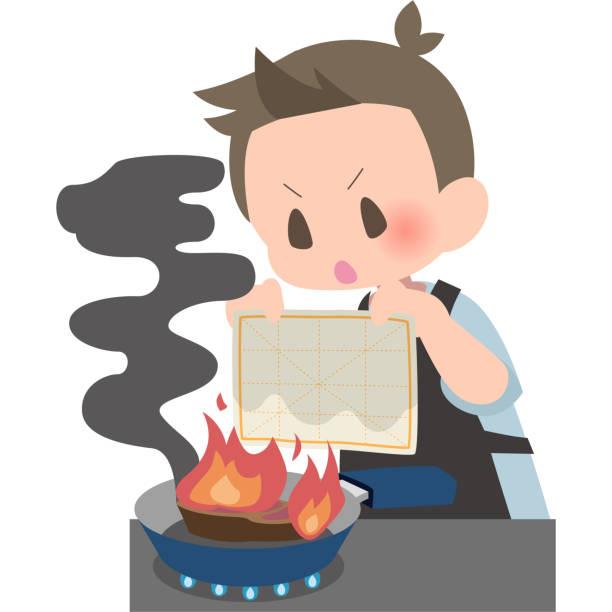 männer mit einem feuchten tuch - hausmannskost stock-grafiken, -clipart, -cartoons und -symbole