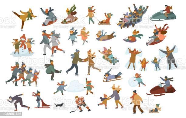 Men women couples kids children family sledding ice skating on a rink vector id1058681616?b=1&k=6&m=1058681616&s=612x612&h=q5fvi go c9zkprslbzfnx2h1xebholhv23z91d9usu=