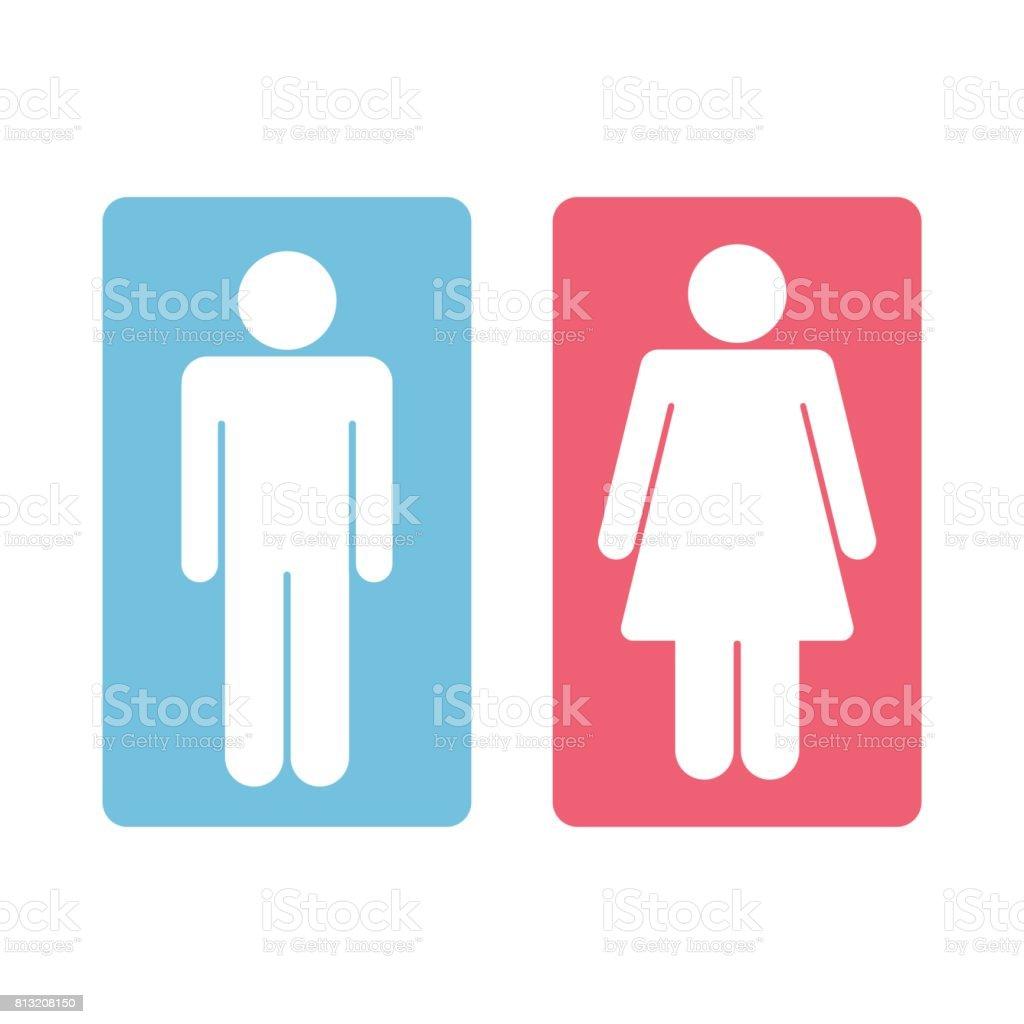 Men Women Toilet Sign Vector Royalty Free Stock Vector Art