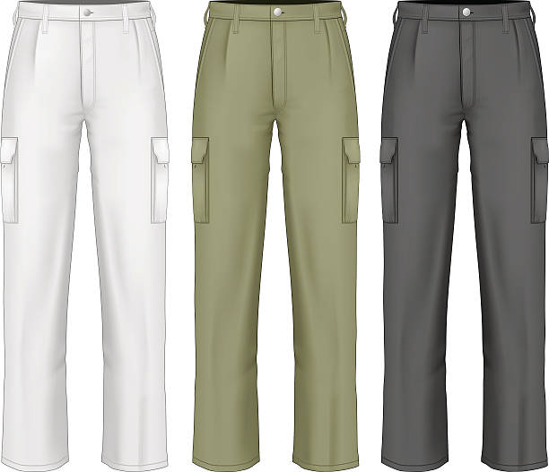 ilustrações, clipart, desenhos animados e ícones de calça masculina de trabalho. - calça comprida
